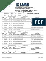 Programacion Examenes Finales 2017-I
