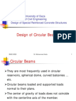Design of Circular Beams