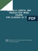 Revised SUPW Framework 2013