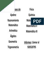 Aviso de Trabajo(Matematica)