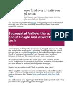 Google Fires Its Employee