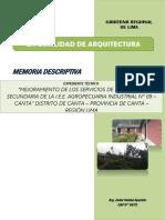 1.- M.D. DE ARQ. - CANTA 18-07-16