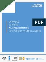 ONU Mujeres Un Marco de Apoyo Prevención Violencia