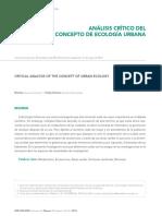 Concepto de Ecología Urbana