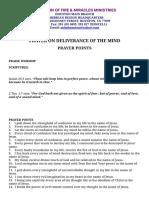 Prayer on Deliverance of the Mind