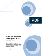 Informe  Medidor de Flujo Gaseoso Mecanica de fluidos