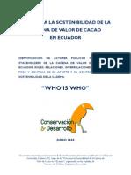 Tcc Final Report - CONSERVACION & DESARROLLO, Make a donation@ccd.org.ec / Haga una donación