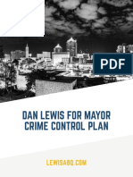 Lewis for Mayor Crime Plan