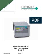Manual de Usuario Centrifuga Hermle Z326k_english
