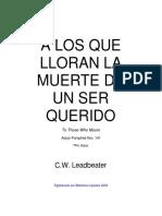 C.W. Leadbeater - A los que lloran la muerte de un ser querido.pdf