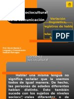 Contexto Sociocultural de La Comunicación