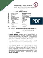 Syllabus Patología General