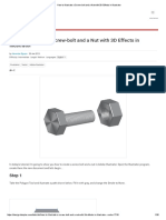 How to Illustrate a Screw-bolt and a Nut With 3D Effects in Illustrator