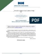Código Civil de España 1889 Actualizado