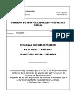 Personas Con Discapacidad en El Ammbito Privado_Insercion Laboral_Normas