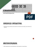 Diccionario de 20 Palabras