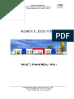 Memorial Descritivo FNDE