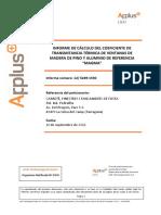 Calculo Del Coeficiente de Transmitancia Termica de Ventanas de Madera de Pino y Aluminio de Referencia - Magma
