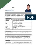Resume of Shahadat Hossain
