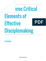 3 Critical Elements of Effective Disciplemaking Jo Saxton