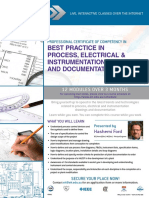 EIT Course Process Electrical Instrumentation Drawings Docs CDR Brochure
