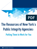 The Resources of New York's Public Integrity Agencies