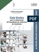 Guía Técnica ExpedientedeEvidencias Secundaria Tecnologia Asignaturaestatal