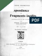 Correspondance et fragments - Fromentin, Eugène, 1820-1876.pdf