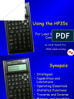Using the HP35s