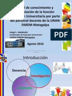 Nivel de conocimiento y apropiación de la función Extensión Universitaria por parte del personal docente de la UNANFAREM- Matagalpa