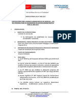 Convocatoria 008-2017 - Seguimiento Nombramiento