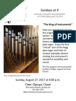 2017 Sundays at 4 August Flyer