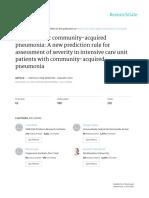 PIRO Score for Community-Acquired Pneumonia - Articulo Cohorte