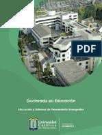SEM. TEM. II - Educación y Sistemas de Pensamiento Emergentes