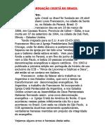 Apostila Congregação Cristã No Brasil