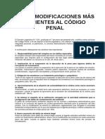Las 10 Modificaciones Más Recientes Al Código Penal -- Peru