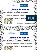 Diploma Escuela de Futbol 2