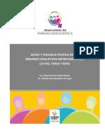 Acoso y Violencia Política en los Órganos Legislativos Departamentales (La Paz, Tarija y Beni)