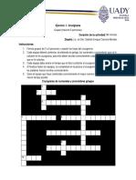 ejercicio 1 Crucigrama