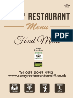 Saray Restaurant A4 Folded to A5 Flyer