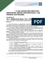 Lectura 4 - Los Juicios Declarativos Especiales, Medios Impugnativos y Las Medidas Cautelares.