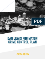 Dan Lewis Crime Plan