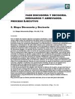 Lectura 3 - Fase Discusoria y Decisoria. Procesos Ordinarios y Abreviados. Proceso Ejecutivo