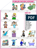 daily routines vocabulary esl matching exercise worksheets for kids.pdf