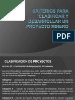 Criterios Para Clasificar y Desarrollar Un Proyecto Minero 33082