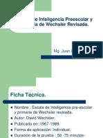 Prueba de Inteligencia Preescolar y Primaria de Wechsler