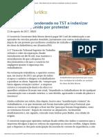 ConJur - Belo Monte Terá de Indenizar Trabalhador Punido Por Protestar