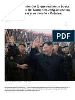 5 Claves Para Entender Lo Que Realmente Busca El Líder de Corea Del Norte Kim Jong