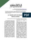 Barros - El Transplante de Órganos