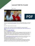 Clinton Underground Child Sex Scandal PART 1